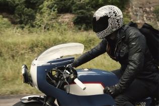 מוטו גוצי, רוכב, אופנוען, נשמה, כביש, משקף, ציוד מגן, קסדה